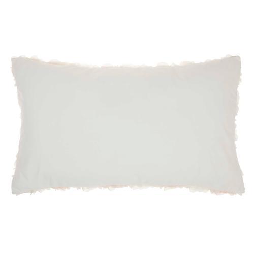 "Fur L1940 Ivory 14"" X 24"" Throw Pillow"