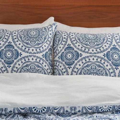 Dreamscape Dsc03 Navy King 3-piece Bed Set