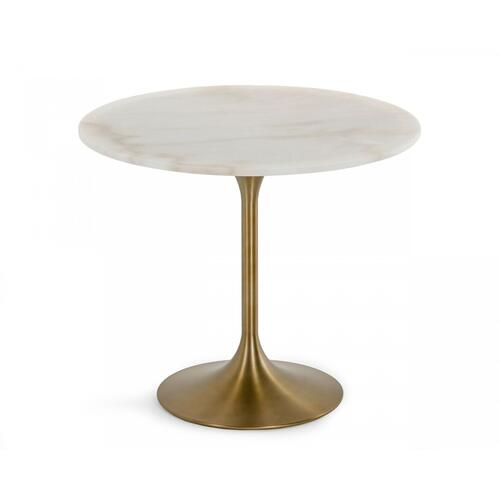 VIG Furniture - Modrest Collins - Glam White Marble & Gold Dining Table