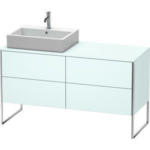 Vanity Unit For Console Floorstanding, Light Blue Matte (decor)