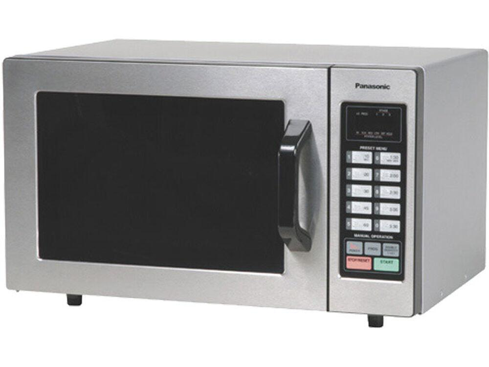 Panasonic1000 Watt Commercial Microwave Oven With 10 Programmable Memory Ne-1054f