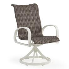 Woven Swivel Tilt Dining Arm Chair