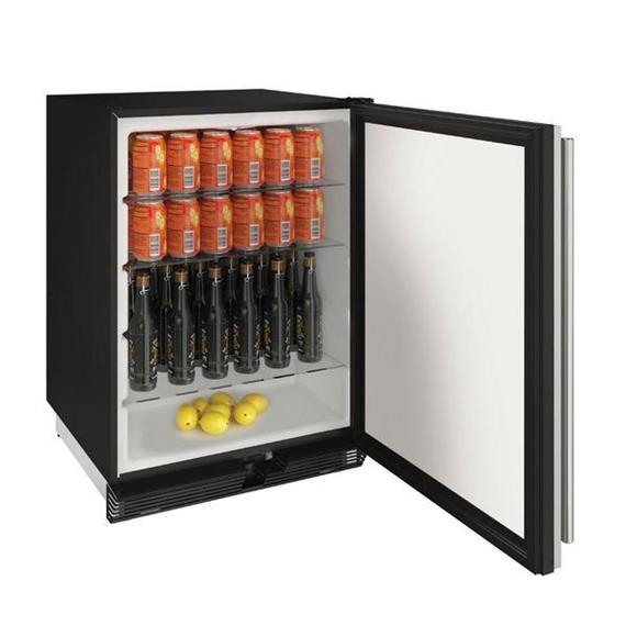 """24"""" Refrigerator With Stainless Solid Finish (115 V/60 Hz Volts /60 Hz Hz)"""