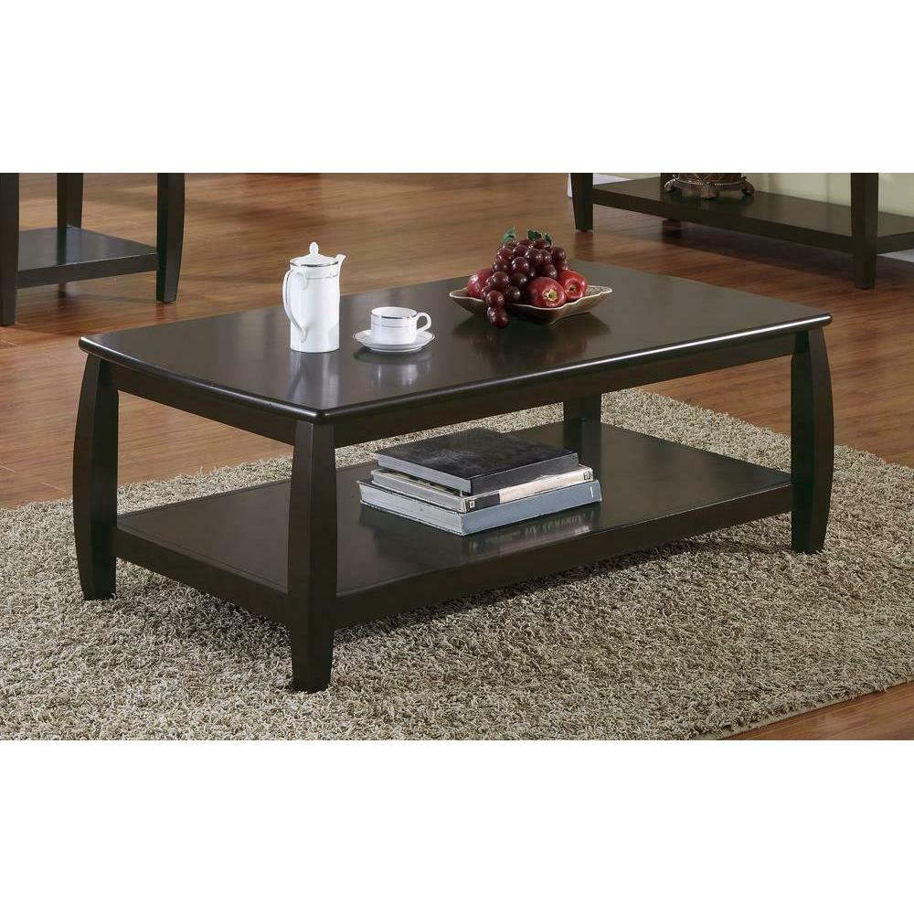 See Details - Wood Top Espresso Coffee Table