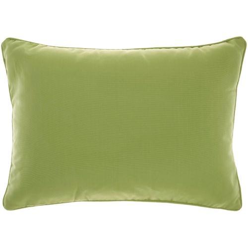 """Outdoor Pillows L9090 Green 14"""" X 20"""" Throw Pillow"""