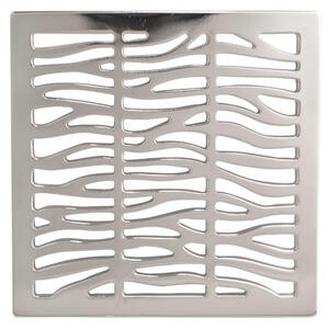 "English Bronze 4"" Square Shower Drain"