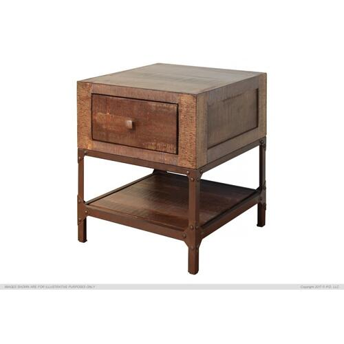 International Furniture Direct - End Table w/1 Drawer