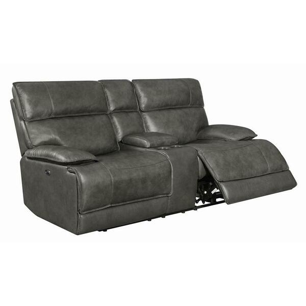 See Details - Standford Casual Charcoal Power Loveseat