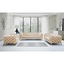 Product Image - Divani Casa Sheila - Transitional Beige Fabric Sofa Set