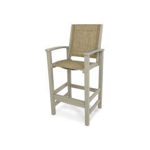 Polywood Furnishings - Coastal Bar Chair in Sand / Burlap Sling