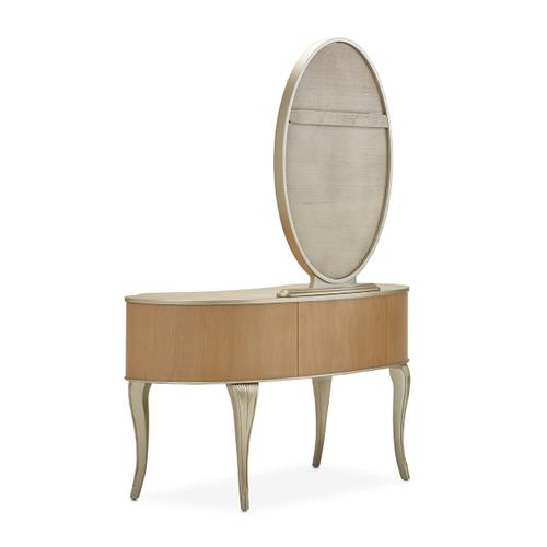 Vanity/desk W/mirror 2pc