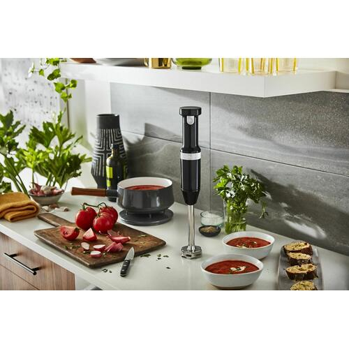 KitchenAid - Cordless Variable Speed Hand Blender - Onyx Black