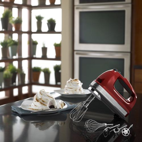 KitchenAid - 9-Speed Architect Series Hand Mixer Candy Apple Red