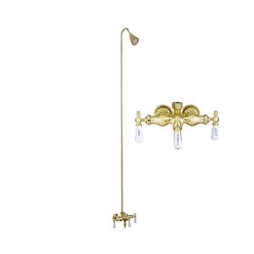 Tub Filler with Diverter for Acrylic Tub - Polished Brass