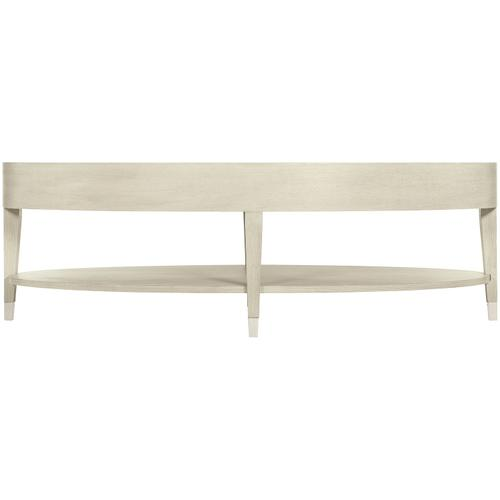 East Hampton Oval Cocktail Table in Cerused Linen (395)