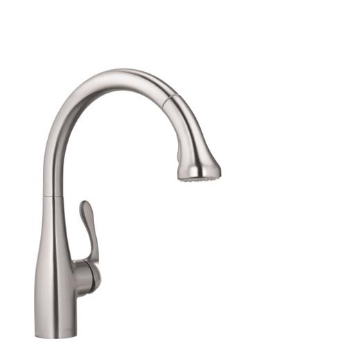 Steel Optic HighArc Kitchen Faucet, 2-Spray Pull-Down, 1.75 GPM