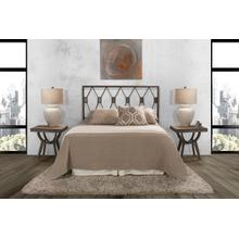 Tripoli Twin Headboard Only, Metallic Brown