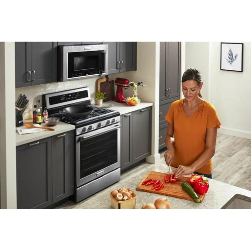 """KitchenAid - 30"""" 1000-Watt Microwave Hood Combination with Convection Cooking - Stainless Steel"""