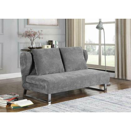 See Details - Transitional Grey Sofa Bed
