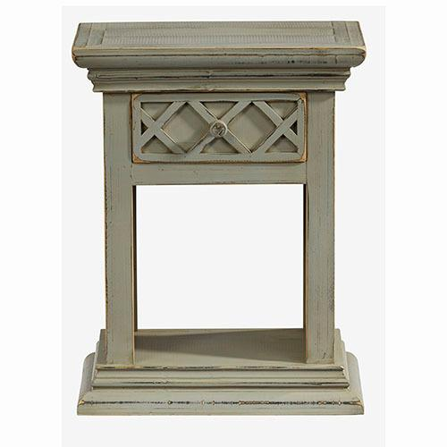 Nightstand - Antique Gray Finish