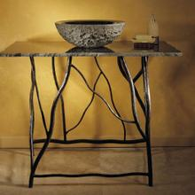 See Details - Iron Branch Console With Top Black Granite