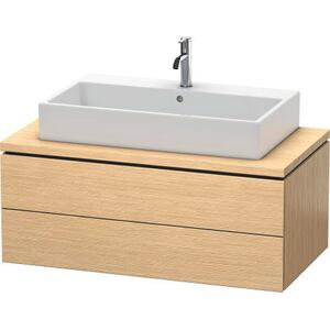 Vanity Unit For Console, Brushed Oak (real Wood Veneer)