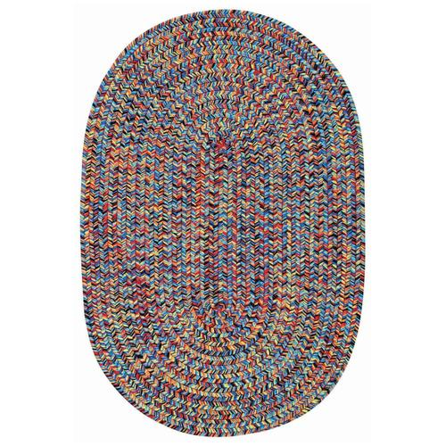 "Sea Glass Fiesta Bright Multi - Oval - 20"" x 30"""