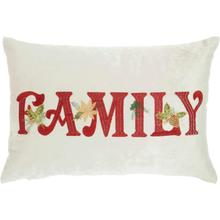 "Home for the Holiday L1773 Beige 12"" X 18"" Throw Pillow"