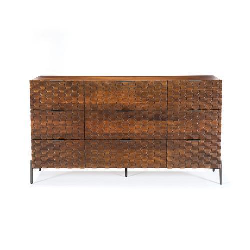Raffael 9 Drawer Dresser-antique Brown