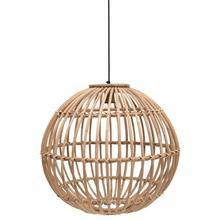 "23-1/2"" Round Hand-Woven Rattan Pendant Lamp, 6' Cord (60 Watt Bulb Maximum, Hardwire Only)"