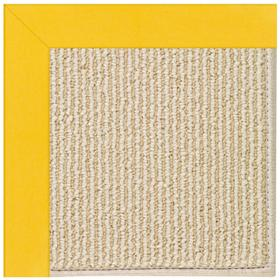 Creative Concepts-Beach Sisal Canvas Sunflower Yel Machine Tufted Rugs