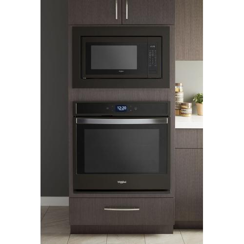 KitchenAid - 30 in. Microwave Trim Kit Black Stainless