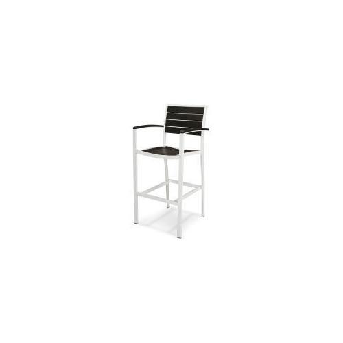 Polywood Furnishings - Eurou2122 Bar Arm Chair in Satin White / Black