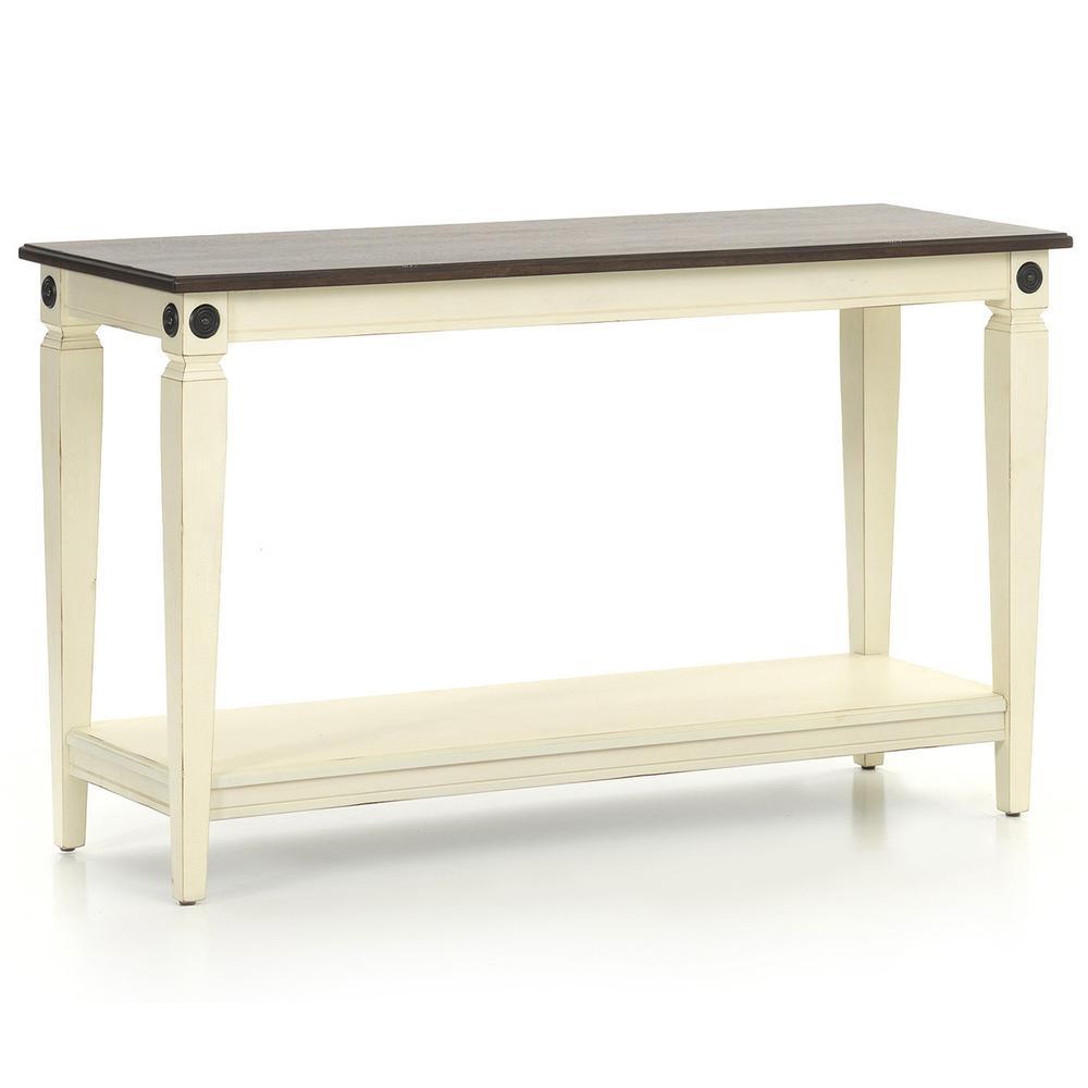 Glennwood Sofa Back Table  White & Charcoal