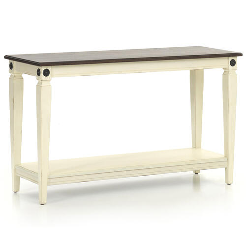 Glennwood Sofa Back Table  White & Charcoal