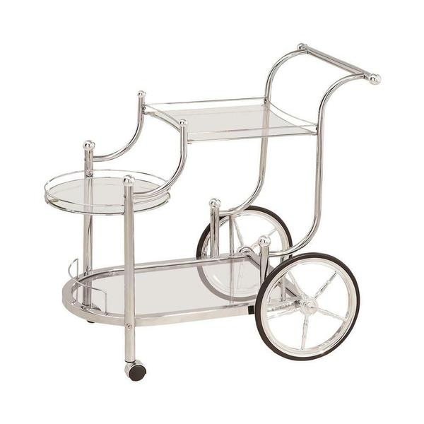 See Details - Traditional Chrome Serving Cart