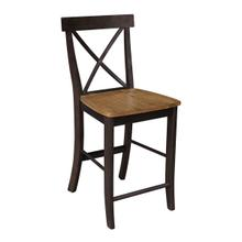 X-Back Stool in Hickory Coal