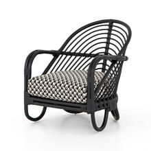Noma Ebony Cover Marina Chair, Ebony Rattan