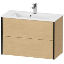 View Product - Vanity Unit Wall-mounted Compact, Natural Oak