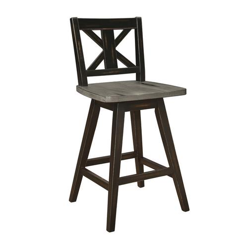 Gallery - Swivel Counter Height Chair, Black