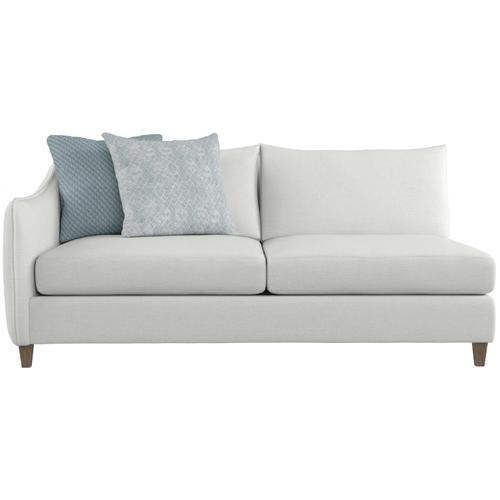 Joli Left Arm Loveseat in Aged Gray (788)