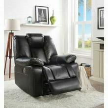 ACME Jailene Recliner (Power Motion) - 59261 - Black Leather-Aire