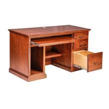 See Details - Forest Designs Traditional Oak Desk: 56W x 30H x 24D