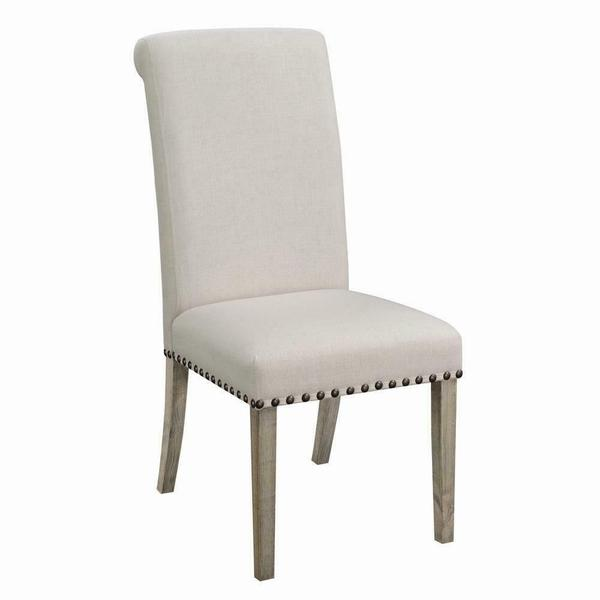 See Details - Taylor Beige Upholstered Parson Dining Chair