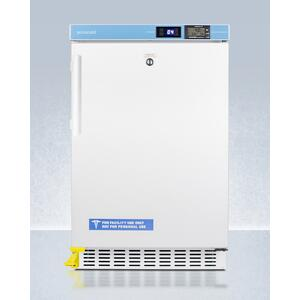 "SummitPharmacy Series ADA Compliant 20"" Wide Built-in Undercounter All-refrigerator for Vaccine Storage, Frost-free With Step-to-open Door Pedal, Internal Fan, External Digital Controls and Thermometer, and Lock"