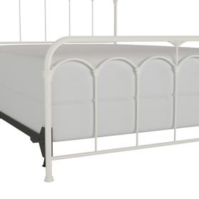 Jocelyn Full Metal Bed, Textured White