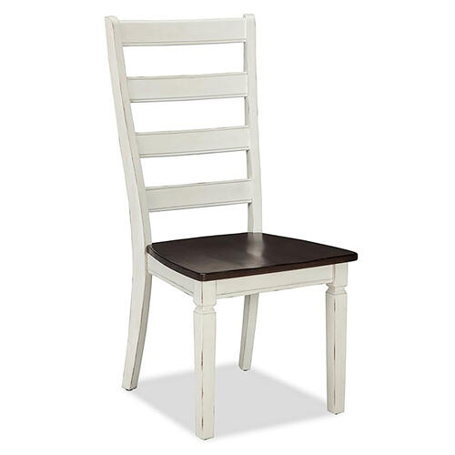 Glennwood Side Chair  White & Charcoal
