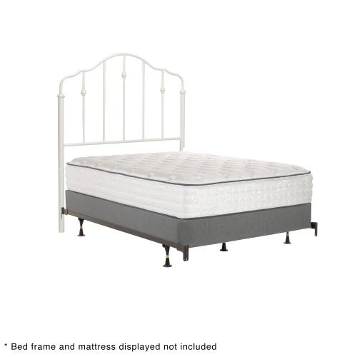 Lorna Fashion Kids Metal Headboard Panel with Delicate Arches and Accented Spindles, Warm White Finish, Twin