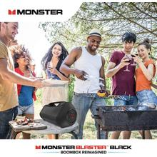 See Details - Monster Superstar Blaster Boombox: High Performance Portable Wireless Bluetooth Speaker, Rechargeable Water Resistant with Indoors/Outdoors EQ Modes (Updated Model (Black))