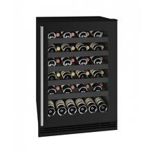 """See Details - Hwc124 24"""" Wine Refrigerator With Black Frame Finish (115v/60 Hz Volts /60 Hz Hz)"""
